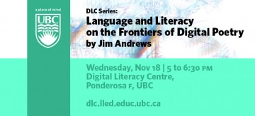 DLC Series: Language and Literacy on the Frontiers of Digital Poetry