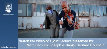 Joint Lecture: Marc Bamuthi Joseph & Daniel Bernard Roumain
