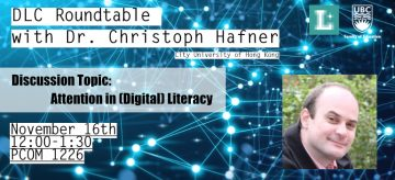 DLC Roundtable Session with Dr. Christoph Hafner